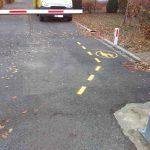 Fußgänger Markierung